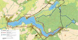 Wandern oder Fahrradfahren um den Hohenauener-, Semliner- und Ferchesarer See in Brandenburgs West-Havelland