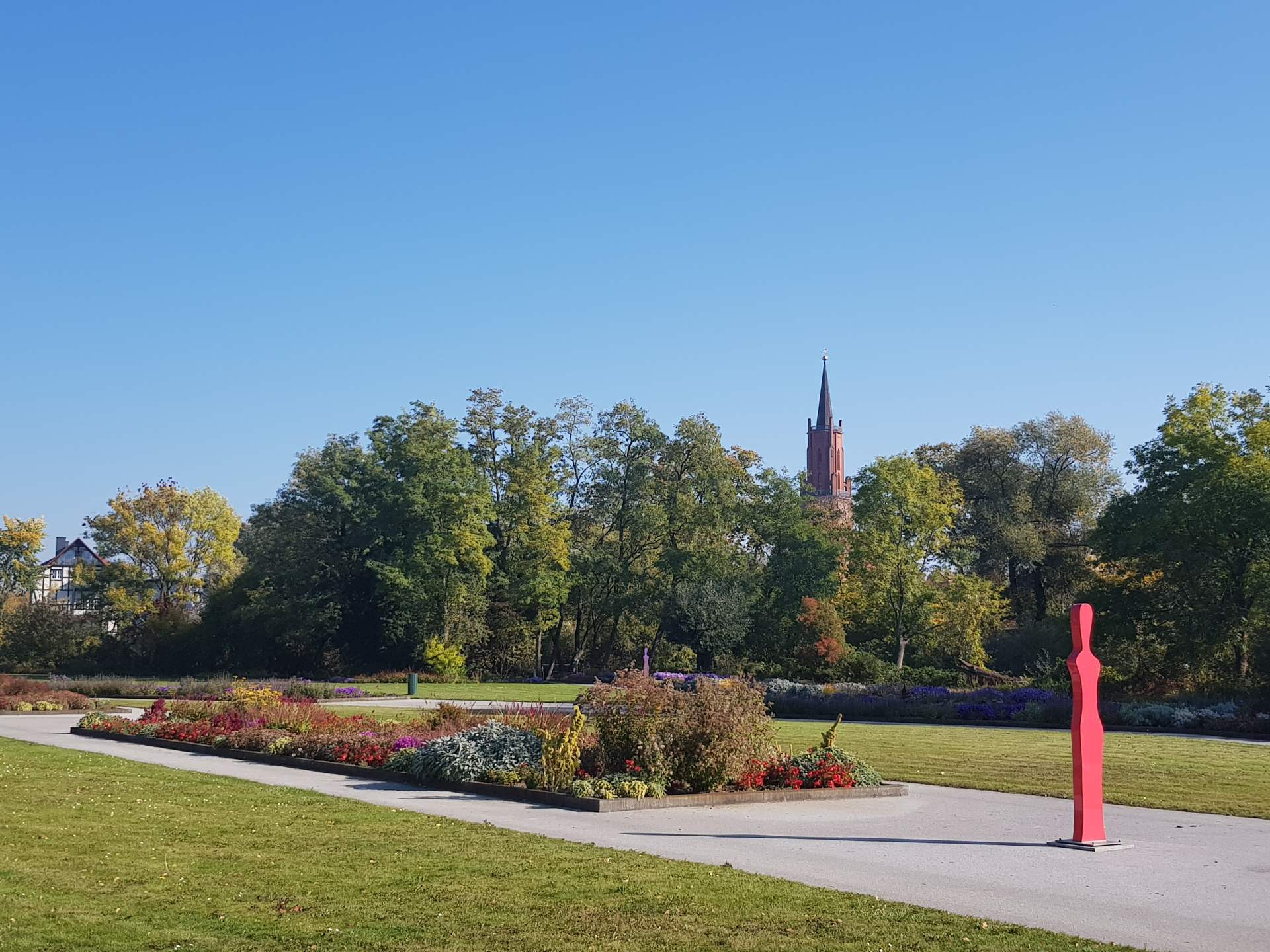 Optikpark in Rathenow, Garten- und Landschafts-Ausstellung, Standort von LAGA und BUGA, Erlebniswelten zur optischen Industrie, Kinder-Spielplätze, Floßfahrt auf einem Seitenarm der Havel