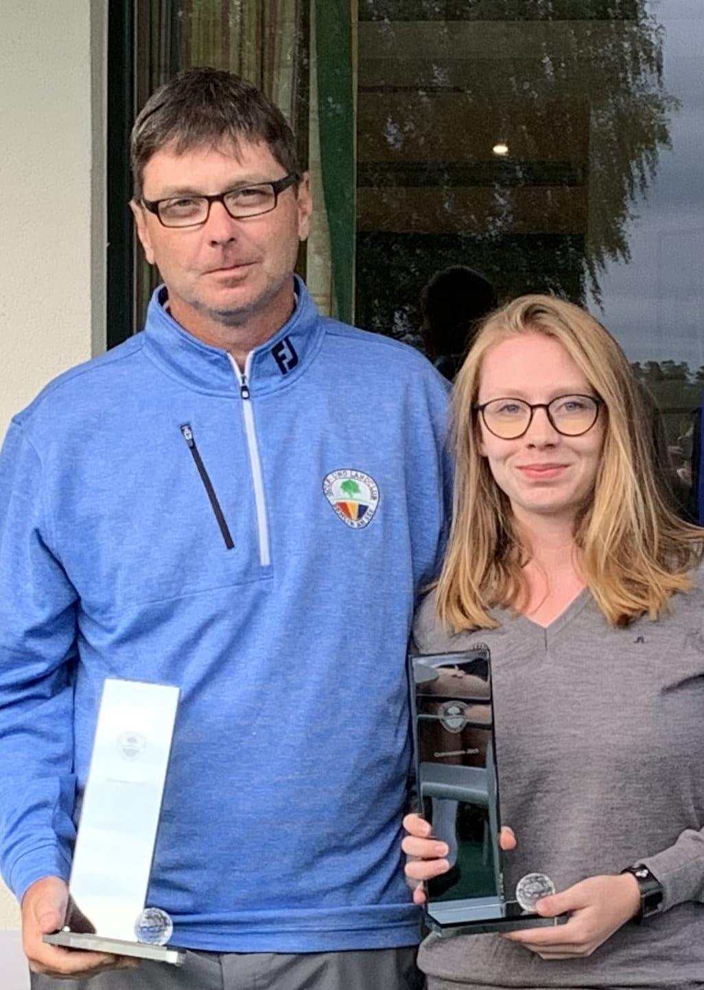 Andreas Tautz und Luisa Tautz gewinnen die Clubmeisterschaften 2019 im Golf- und Landclub Semlin am See