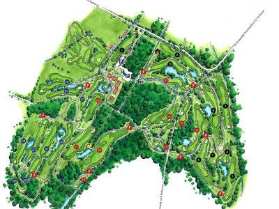 Übersichtskarte des GolfResort Semlin